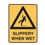 SIGN SLIPPERY WHEN WET 300X450 METAL 832124