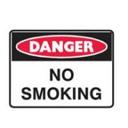 BRADY DANGER NO SMOKING METAL 450 X300MM 832581