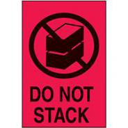 BRADY SHIPPING LABEL DO NOT STACK 150 X 100MM PK500   834408
