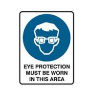 SIGN EYE PROTECTION MBW 450mm x 600mm POLY  835004