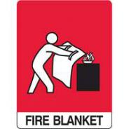 BRADY 835971 SIGN FIRE BLANKET MTL 300 X 450MM
