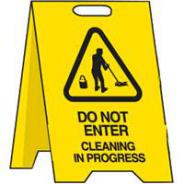BRADY FLOOR STAND SIGN DO NOT ENTER CLEANING 839013