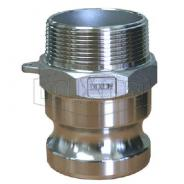 ADAPTOR 1-1/2'' MALE TYPE F ALUMINIUM ALDC150