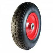 PNEUMATIC WHEEL W/RED STEEL RIM 400MM CPW4.00-8S1C