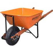 WHEELBARROW TIMBER HANDLE PNEUMATIC WHEEL  W1000-HBHNGS