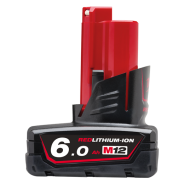 MILWAUKEE BATTERY 12V 6.0AH M12B6