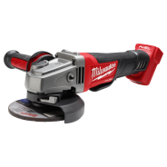 MILWAUKEE GRINDER 125MM 18V BRUSHLESS DEADMAN SKIN  M18CAG125XPD-0