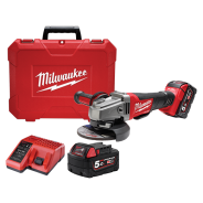 MILWAUKEE ANGLE GRINDER KIT 125MM 18V 5.0AH  M18CAG125XPD-502C