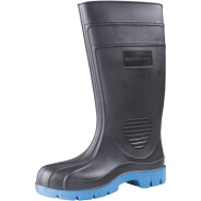 BATA GUMBOOTS LONG SAFETY BLK/BLUE SIZE 12