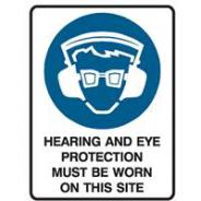 BRADY HEARING & EYE PROT. SIGN 600 X 450  831142