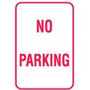 SIGN NO PARKING METAL 450mm x 600mm  832050