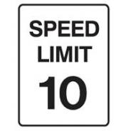 BRADY SPEED LIMIT SIGN 10KM 832057