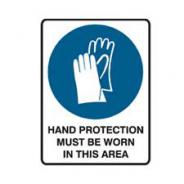 BRADY SIGN HAND PROTECTION MUST BE WORN 832139