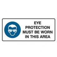 BRADY SIGN EYE PROT MUST BE WORN MTL 450x180  832247