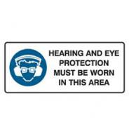 BRADY HEARING AND EYE PROTECTION SIGN 832253