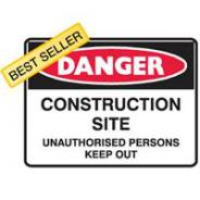 BRADY CONSTRUCTION AREA KEEP OUT SIGN 600 X 450 MTL 832438