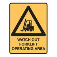 BRADY SIGN FORKLIFT OPERATING AREA  832442