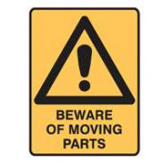BRA833298 BEWARE OF MOVING PARTS( pkt5)