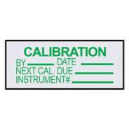 BRADY LABEL ALUMIN CALIBRATION PK25 834339