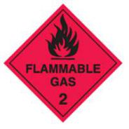 BRADY SIGN METAL FLAM GAS 2 270MM 836001