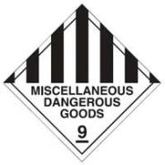 BRADY MISC DANGEROUS GOODS SIGN MTL  836015