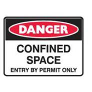 BRADY SIGN CONFINED SPACE METAL 300x225  841775