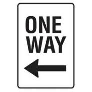 BRADY SIGN TRAFFIC ONE WAY 450 X 600MM   841876