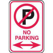 BRADY TRAFFIC & PARKING SIGN 300X450  843567