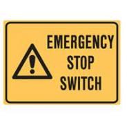 BRADY EMERGENCY STOP SWITCH STICKERS 844308