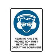 BRADY SIGN HEARING & EYE PROTECTION POLY 852645