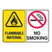 BRADY FLAM MATERIAL/NO SMOKING SIGN 855513