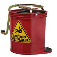OATES BUCKET MOP PLASTIC RED 16L W/CAST IW-005R