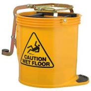 OATES BUCKET MOP PLASTIC YELLOW 16L W/CAST IW-005Y