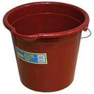 BUCKET PLASTIC H/D 10LT METAL HANDLE  Q-92012