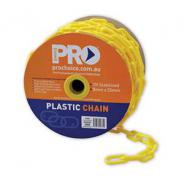 CHAIN PLASTIC YELLOW 8MMx25mtr COIL  PCY825