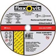 DISC C/O IRON FREE 230X2.5X22  FLEXOVIT 1823022 PACK OF 50