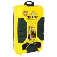 DRILL SET HSS METRIC 1-13MM 25PC ALPHA SM25PB