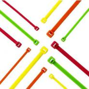 CABLE TIE FLUORO YELLOW 188X4.8X1.3MM PKT-100