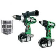 HITACHI COMBO KIT 2PC BRUSHLESS DRILL/DRIVER 18V 5.0AH KC18DDL(HJ)