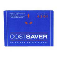 TOILET TISSUE 4301 INTERFOLD COSTSAVER 72 PA