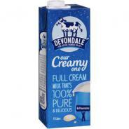 MILK LONG LIFE 1 LTR FULL CREAM   DEVONDALE  064979