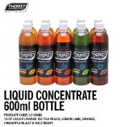 THORZT 600ML LIQUID CONCENTRATE MIXED FLAVOURS  (CTN 10)  LC10MIX