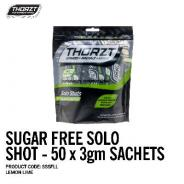THORZT SOLO SHOT SACHET 3gm LEMON LIME SUGAR FREE (50PK) SSSFLL