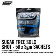 THORZT SOLO SHOT SACHET 3gm 5 FLAVOUR MIXED PACK SUGAR FREE (50PK) SSSFMIX