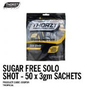 THORZT SOLO SHOT SACHET 3gm TROPICAL SUGAR FREE (50PK) SSSFTR