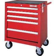 SIDCHROME TOOL TROLLEY 5 DRAWER RED  SCMT50215