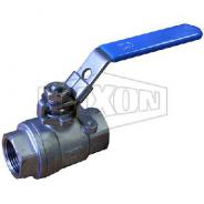 BALL VALVE 316SS BSPT 2 PCE 40MM  SS2P040