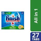 DISHWASHING TABLETS FINISH ALL IN 1 PK27