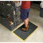 FLOOR MAT AIR GRID YELLOW BORDER 600mm x 900mm  AG23YEL